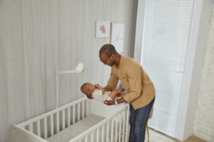 cubo dad transition baby to crib