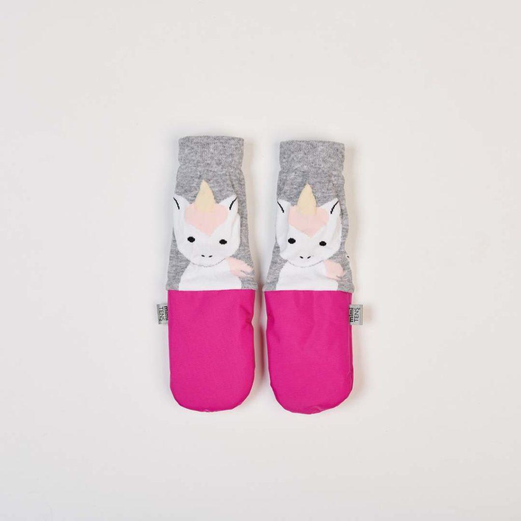 Unicorn design mittens