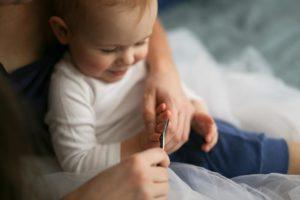 Cut baby nail