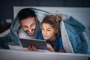 parents date night ideas:Watching Netflix or TV